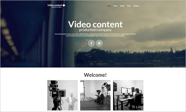 Hero Images Web Design - Web Template for Video Production Studio