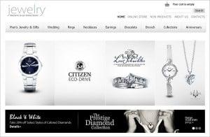 Jewelry Website Design - Monochrome Website Template