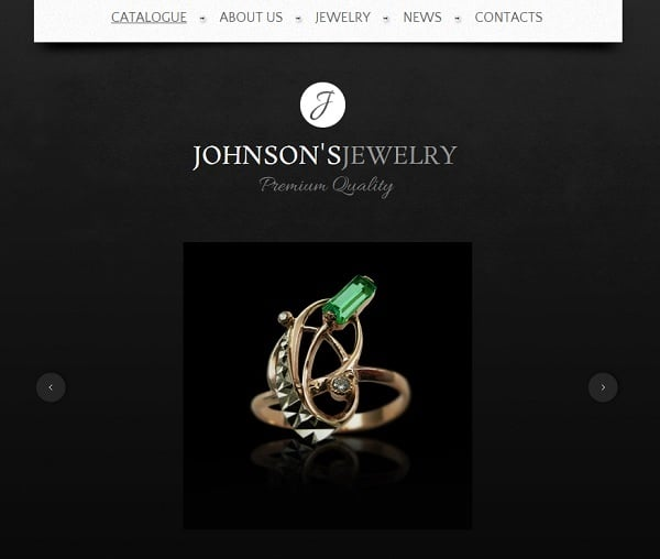 Jewelry Website Design - Template with Slider