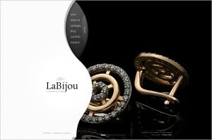 Jewelry Website Design - Blak-and-White Website Template
