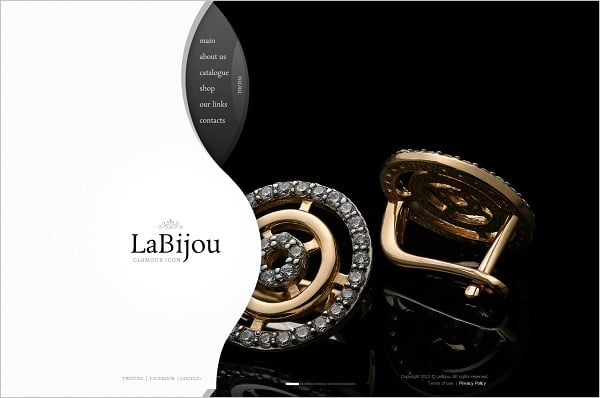 Jewelry Website Design - Black-and-White Website Template