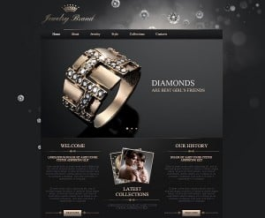 Jewelry Website design - web template with Home Page Slider