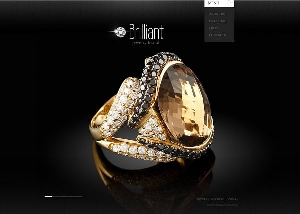 Jewelry Website Design in Black