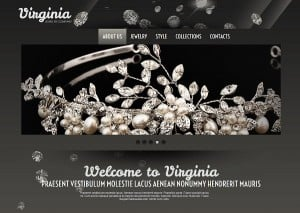 Jewelry Website Design - Website Template with Large Header