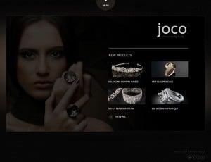 Jewelry Website Template - Black Website Template