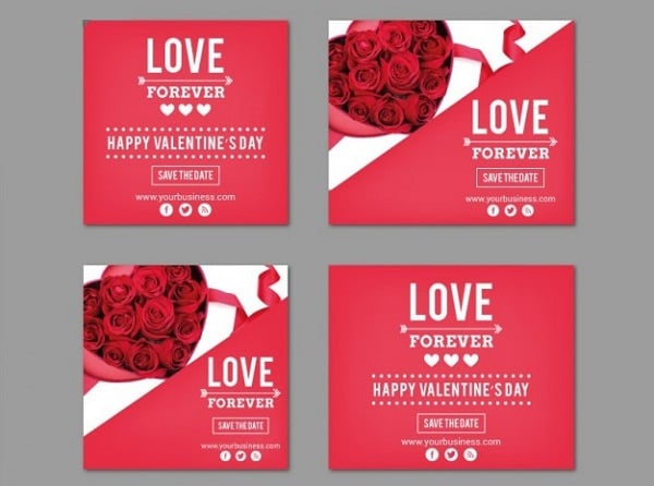 Valentine's Day Banner Pack