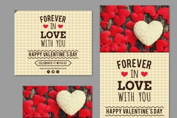 Valentines Day freebies - Valentine's Day Banner Set