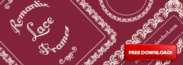 Romantic Lace Photoshop Brushes