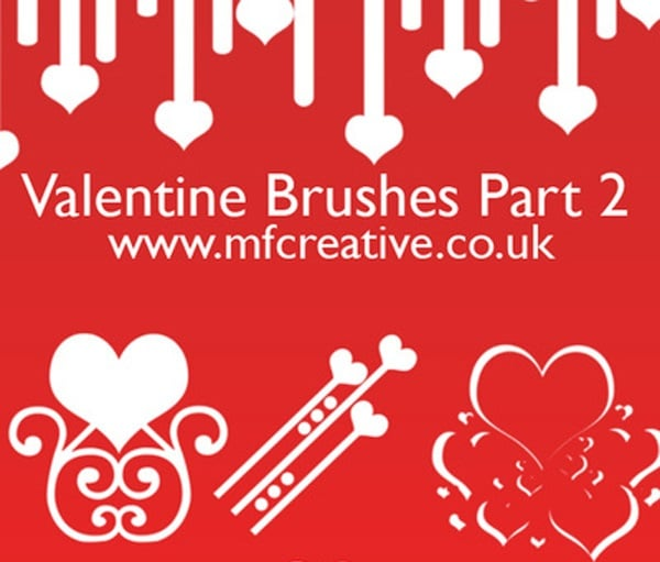 Valentine Brushes Pack 2