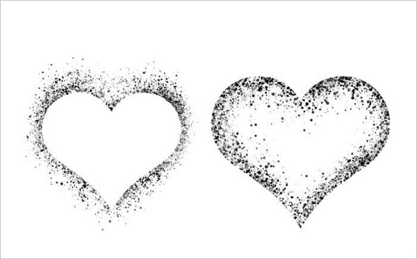 Spatter Hearts
