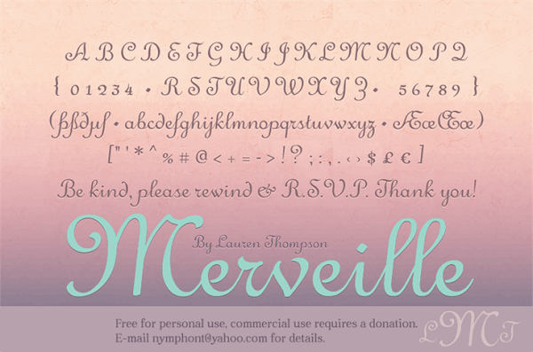 Valentines Day freebies - Merveille Font