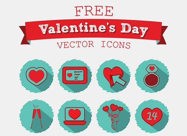 20 Free Valentine's Day 2015 Love Icons