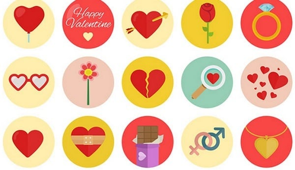 Valentines Day freebies - 40 Valentine's Icons