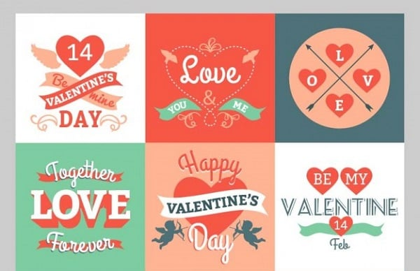 Valentines Day freebies - Valentine Greetings Pack