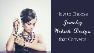 Jewelry Website Design - main