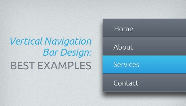 Vertical Navigation Bar Design - main