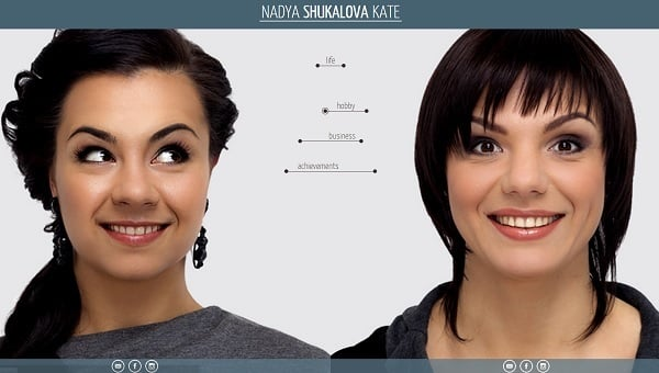 Vertical Navigation Bar Design - Shukalova