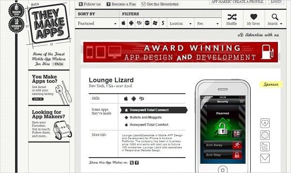 Vertical Navigation Bar Design - They Make Apps