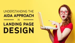 aida approach in landing page design