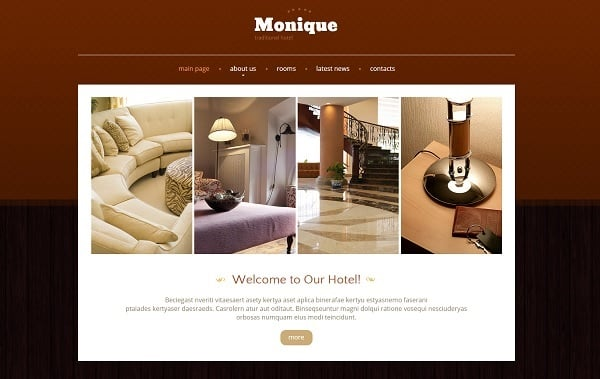 Building a Hotel Website - Brown-Colored Web Template for Hotel Business