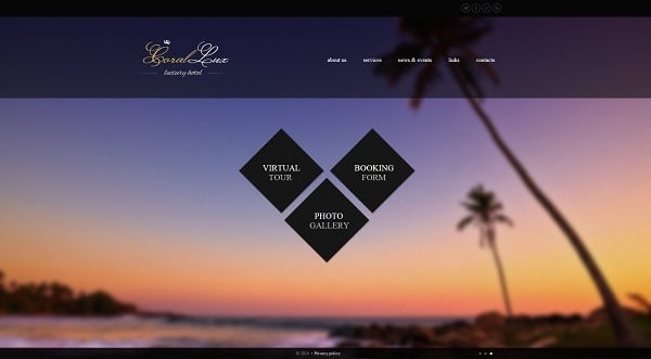 Building a Hotel Website - Hotel Web Template with Fullscreen Background