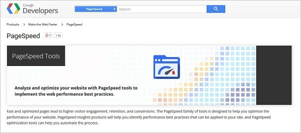 Page Speed Testing Tools - Google PageSpeed Tools