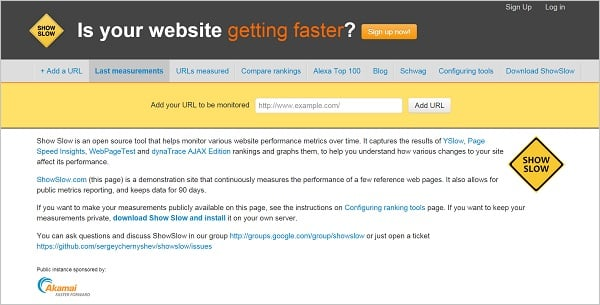 Page Speed Testing Tools - Show Slow