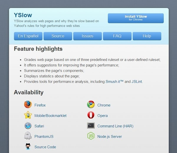 Page Speed Testing Tools - Yslow