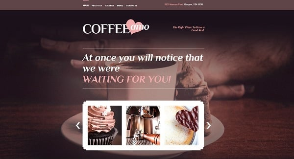 Restaurant Website Design for Coffee Restaurant