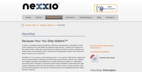 NexxShip Software for e-store