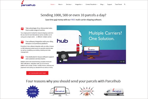 Ecommerce Shipping and Fulfillment Service Parcelhub