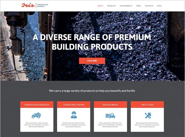 Creating a Website for Your Construction Business - Template with Background