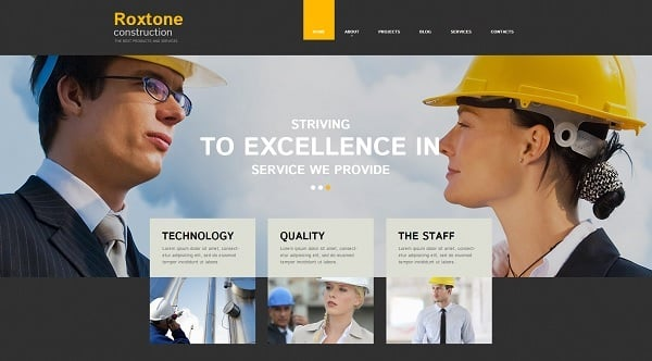 Creating a Website for Your Construction Business - Template with Header