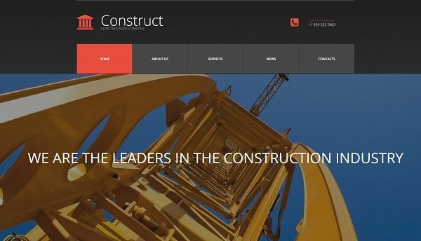 Creating a Website for Your Construction Business - Moto3.0 Template