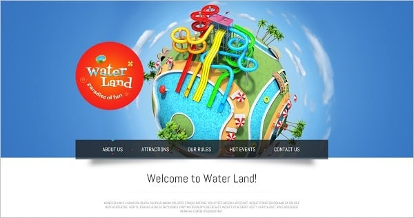 MotoCMS Promo - Water Park Template