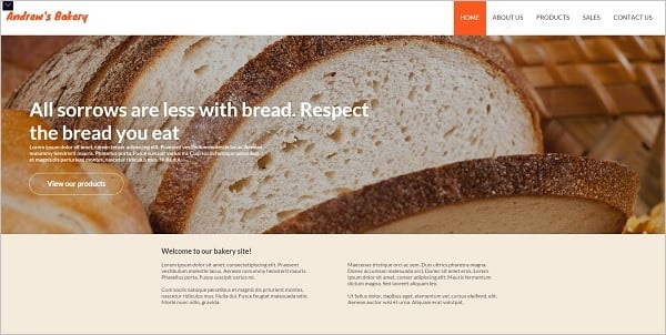 MotoCMS July 4th Promo - Bakery Template