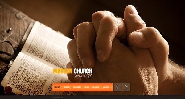 MotoCMS July 4th Promo - Church Template