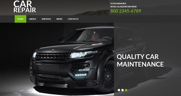 MotoCMS July 4th Promo - Car Service Website Template
