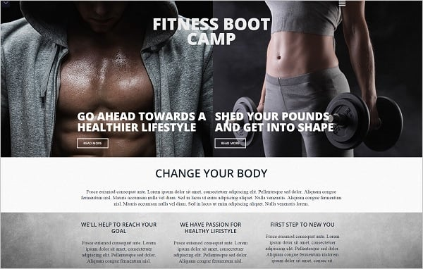 MotoCMS July 4th Promo - Fitness Center Website Template