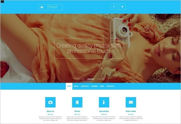 MotoCMS Promo - Photographer Website Template