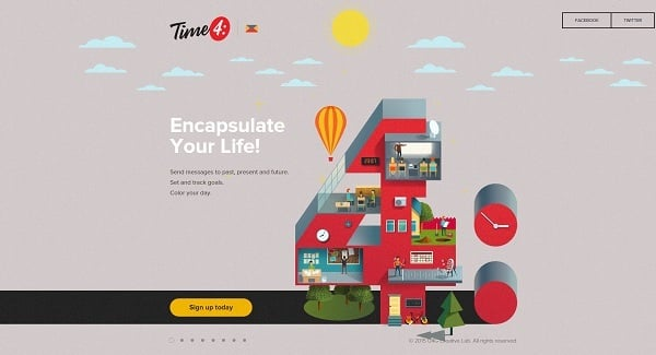 Parallax scrolling websites - Yourtime4