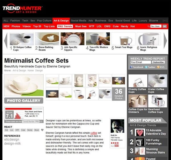 Optimize eCommerce site - Trend Hunter