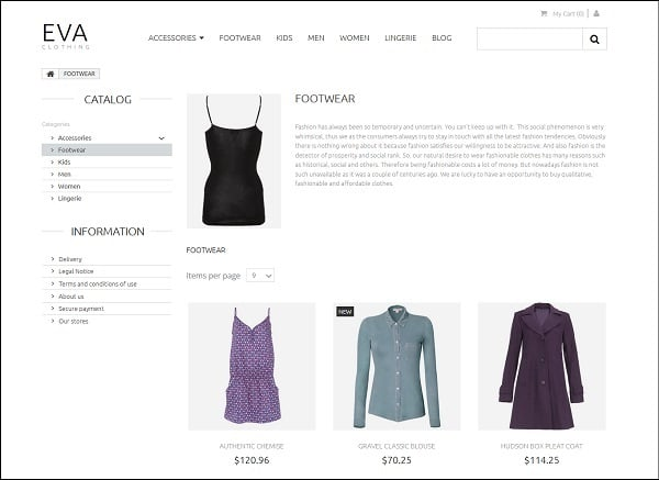 Ecommerce Templates of MotoCMS - clothes category