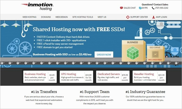 Best Hosting Services 2016 - inmotion