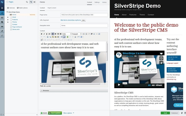 Best CMS website builders 2016 - silverstripe