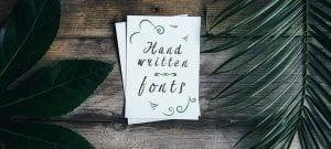handwritten fonts 2017 - featured