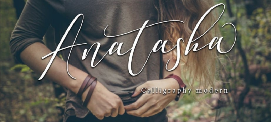 Handwritten fonts 2017 - Anatasha