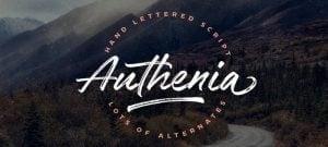 Handwritten fonts 2017 - Authenia