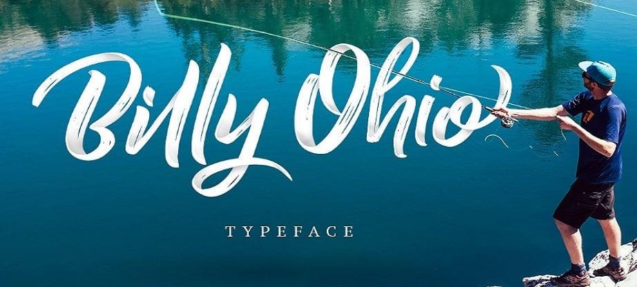 Handwritten fonts 2017 - Billy Ohio