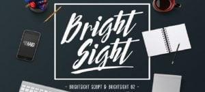 Bright Sight Handwritten fonts 2017